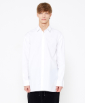 인사일런스() Embroidered Dress Shirt (White)