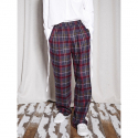 노앙(NOHANT) CHECK WIDE PANTS BURGUNDY