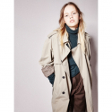 CHECK LINING TRENCH COAT BEIGE