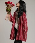 PATTERN CARDIGAN RED