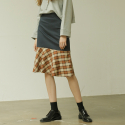 아웃스탠딩오디너리(OUTSTANDING ORDINARY) KAREN CHECK SKIRTnavy