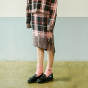 아이아이(EYEYE) CHECK RIBBON KNIT SKIRT_PINK (EEOE3SKR05W)