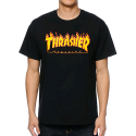 쓰레셔(THRASHER) THRASHER FLAME T-SHIRT (BLACK)