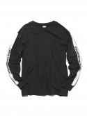 디스이즈네버댓(THISISNEVERTHAT) Stripe SP-Logo L/S Tee Black