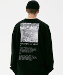 매스노운(MASSNOUN) MOVEMENT OVERSIZED CREWNECK MFVCR002-BK