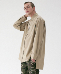 매스노운(MASSNOUN) D-ORNAMENT SIDE VENT LONG SHIRT MFVST001-BG