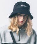 어반스터프(URBANSTOFF) USF SLOGAN BUCKET HAT BLACK