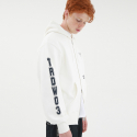 TRDW ZIP UP HOODIE OFF WHITE