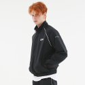 써드위브(THIRDWEAVE) OBLIQUE LOGO TRACK SUIT JACKET BLACK