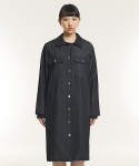 DENIM LONG COAT (BLACK)