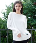 프레리(PRAIRIE) [UNISEX] DROP-SHOULDER POCKET BOX T-SHIRT (Ivory)