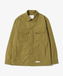 제로() Solid Military Shirts Jacket [Mustard]