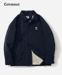 커버낫(COVERNAT) SMALL C LOGO BOA COACH JACKET NAVY