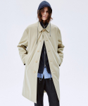SOLARO COTTON-TWILL TRENCH COAT  BEIGE