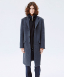 WOOL CHESTERFIELD COAT CHARCOAL GREY