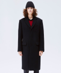 슬립워커(SLWK) WOOL CHESTERFIELD COAT BLACK