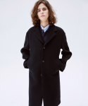 슬립워커(SLWK) WOOL DROP SHOULDER COAT BLACK