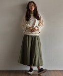 Long skirt(khaki)_Scene with you
