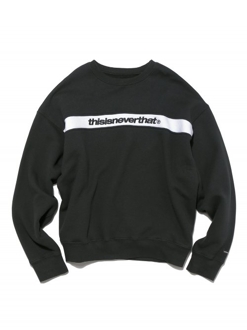 디스이즈네버댓(THISISNEVERTHAT) Stripe SP-Logo Crewneck Black