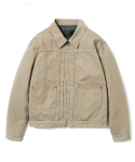 유니폼브릿지() HBT zip trucker jacket beige