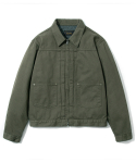 유니폼브릿지() HBT zip trucker jacket khaki