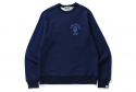베이프() INDIGO COLLEGE WIDE CREWNECK