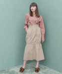 션메익스클로스(SEANMAKESCLOTH) DOUBLE STRING SKIRT BEIGE