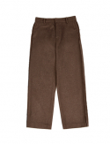 드퐁(DEFOND) OUT SEWING WOOL BLENDING TROUSER_BROWN