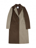 드퐁(DEFOND) MIX CLASSIC TWO BUTTON COAT_BROWN