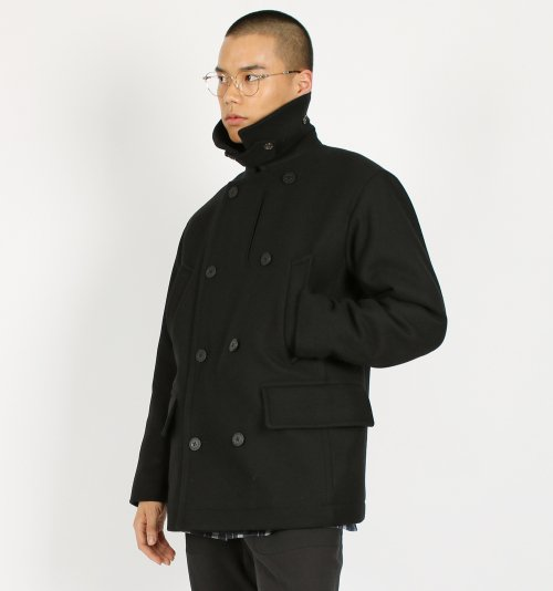 서리얼벗나이스 유니섹스(SURREALBUTNICE UNISEX) PEA COAT BLACK