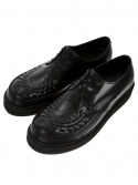 RELIZMPRODUCT Matte Box Black Leather Creepers