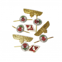 와이엠씨엘케이와이(YMCL KY) YMCL KY  Hungary Pin Badge Set