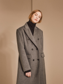 OVER SHOULDER TAILORED DOUBLE COAT_GRAY