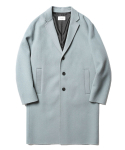 Lydian Handmade Cashmere Coat Pale Blue