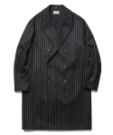Double Oversize Cashmere Coat Stripe