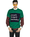 FATBELLY : Laundry Letter Half Knit 그린