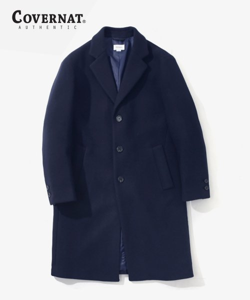 커버낫(COVERNAT) [남/녀] WOOL CASHMERE CHESTER COAT NAVY