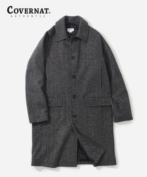 [남/녀] WOOL CHECK MAC COAT