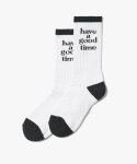 해브 어 굿 타임(HAVE A GOOD TIME) Logo Socks - White