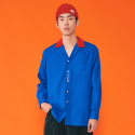위빠남(OUI PANAME) BI-COLOR SHIRT (BLUE+RED)