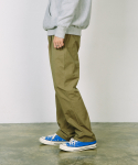 ESSENTIAL SEMI WIDE PANTS [OLIVE KHAKI]