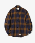 제로() Scratch Plaid Check Shirts [Brown]