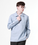 TN Pocket Zip Up Shirts - BLUE