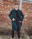 얀13() COZY LONG DOUBLE COAT_KHAKI