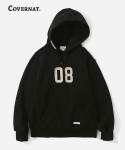커버낫(COVERNAT) (HEAVY WEIGHT)08 LOGO HOODIE BLACK