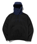 라이풀() FLEECE MIXED LOGO HOODIE black