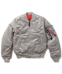 알파 인더스트리(ALPHA INDUSTRIES) MA-1 SLIM FIT / MJM44530C1 - New Silver/Red Lining