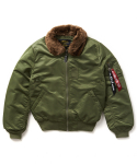 알파 인더스트리(ALPHA INDUSTRIES) B-15 Slim Fit / MJB45500C1 - SAGE/BROWN FUR