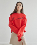 38컴온커먼(38COMEONCOMMON) REVE SWEATSHIRT_RED
