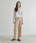 38컴온커먼(38COMEONCOMMON) RAFFINE PANTS_BEIGE